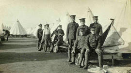 118th Battalion men posing