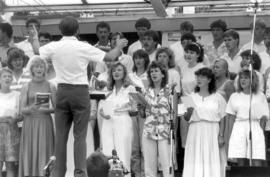 Choir at Bicentennial Festival, Aug. 3, 1986. (2