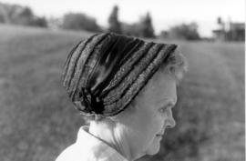 (6 views) Depicts bonnet worn by Mennonite women