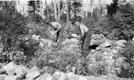 Conscientious objectors working near Montreal River Alternative Service Work Camp, 1941