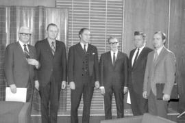 MCC representatives meeting with Prime Minister Pierre Trudeau