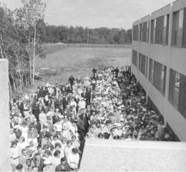 Audience at dedication of new Canadian Mennonite Bible College dormitory