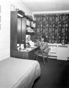 Avis Forbes in her residence room at Conrad