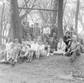 Group meeting at Camp Assiniboia, Cartier, Manitoba