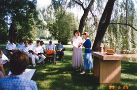 Grebel chapel service by Laurel Creek