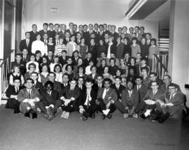 Conrad Grebel College student body in May 1967.