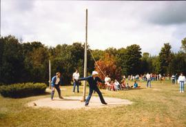 Tetherball at the Grebel all-college retreat