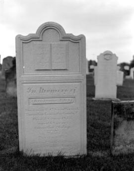 Benjamin Eby's tombstone at First Mennonite Mennonite Church, Kitchener