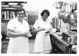 Staff working in the kitchen of Conrad Grebel