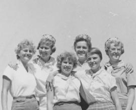 Counselors at the United Mennonite Girl's camp held at Chesley Lake, Ontario