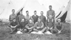 Young men at military camp