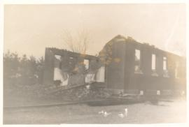 Aftermath of the fire at Hagey Mennonite Church in Fenruary, 1953