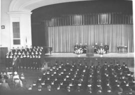 Bethel College (North Newton, Kansas) graduation, 1956