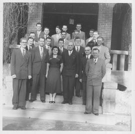 CMBC Choir School, 1954, on the steps of a