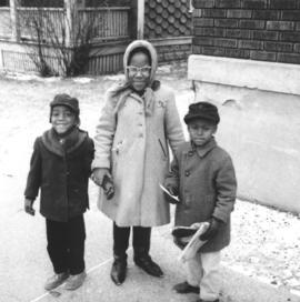 Three African American children