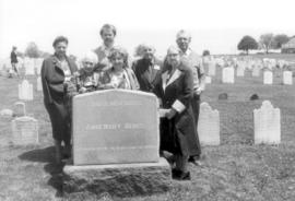 At the grave of John and Anne Berge