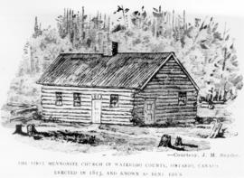 First Mennonite meetinghouse in Waterloo County,