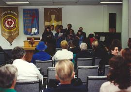 Petitcodiac Mennonite Church choir singing