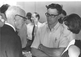 Dr. William L. Mellon with Richard and Grace Bender