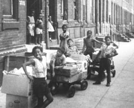 """Children on the streets of North Philadelphia"