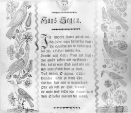 "Fraktur  of ""Haus Segen"" (house blessing) from"