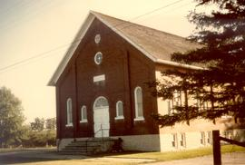 Colour photograph.  The Wideman Mennonite Church