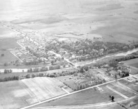 Aerial view of St. Jacobs, Ontario about 1951