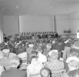 Audience at Canadian Mennonite Bible College convocation, 1960