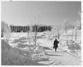 Conrad Grebel College in winter.