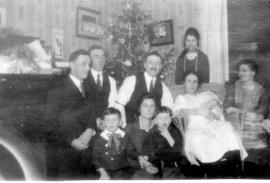 Brubacher family, Christmas 1921