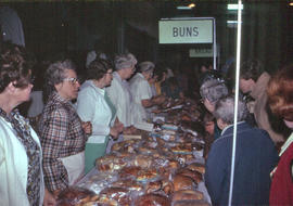 Baked goods on display at the Ontario Mennonite Relief Sale, 1974