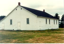 (Colour) Orthodox Mennonite Meetinghouse located