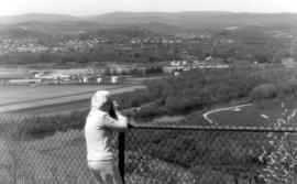 Dorothy Bergey at Lookout Point on Susquehanna