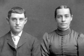 Wedding photo of Dilman Hunsperger and Lydia Ann