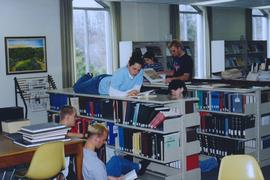 Students in the Grebel library