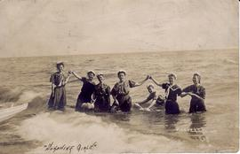"""Swimming at Hoover's Point"" in 1905. L-R: Annie"