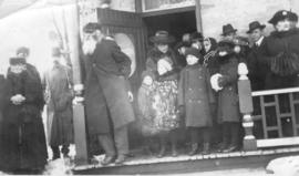 Funeral of Catherine Clemens Eby, 1918 while