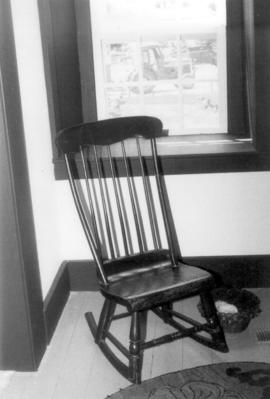 Rocking chair in the kitchen of the Brubacher