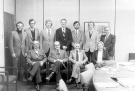 Conrad Grebel College faculty. Front L-R Walter