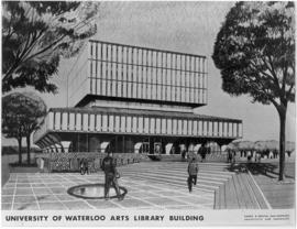 Sketch of the University of Waterloo arts library