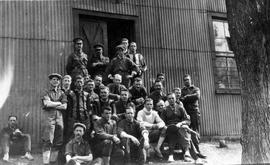 118th Battalion outside headquarters