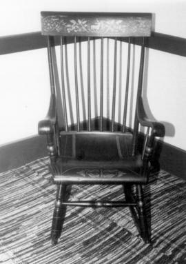 Chair from the Bricker-Cassel family.  Woven
