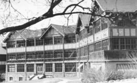One of the main  buildings of the Manitoba Sanitorium at Ninette, Manitoba