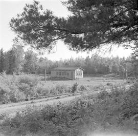 Log school house in Monetville, Ontario