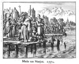 Maria of Monjou moments before being drowned in the Netherlands
