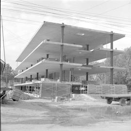 Construction of the nurses dormitory at Goshen College