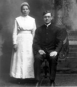 Ada and Nelson Litwiller wedding photo, April 23,
