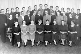 Formal group photo of OMBS mixed chorus, 1960.