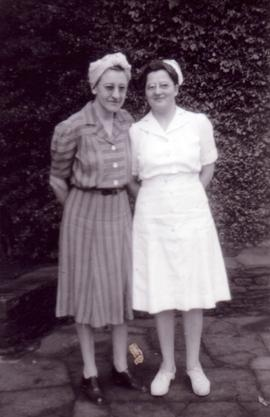 Susie Peters and Mabel Cressman
