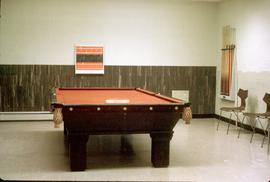 Conrad Grebel College pool table in October 1964.